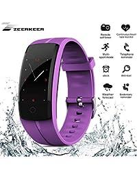 ZEERKEER Sports Watch Pulsera Actividad Smart Watch Bluetooth Fitness Watch Mujer Hombre con GPS 9 modos deportivos Sleep Monitor Mensaje Push Waterproof IP67 IOS y Android