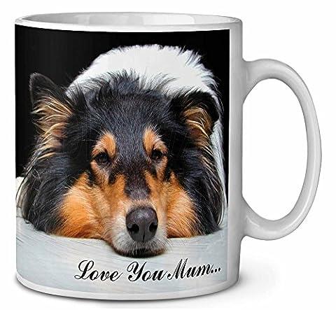 Border Collie Dog 'Love You Mum' Tasse de café anniversaire cadeau de Noël