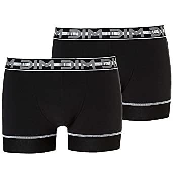 KIABI Lot de 2 boxers 'DIM 3D Flex Stay and noir S