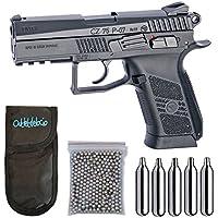 Pistola perdigon ASG16728 CZ 75 P-07 Duty Blowback + Funda Portabombonas + Balines + Bombonas co2. 23054/29318/38123