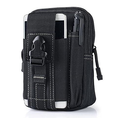 Wear-Resisting Taktisch Tasche - WinCret Außen Sport Leichtbau mit Hoher Kapazität Wasserdicht Nylon Molle Reißverschluss-Pack Utility Taille Tasche für Kleine Gegenstände
