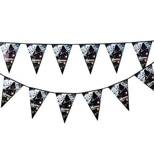 Black Temptation 2PCS Halloween-Entwurf Dreieck Flagge Kreative Haus-Partei-Dekor 22CM