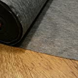 Charcoal Light weight fusible iron on interfacing (for use on BLACK and other dark colours) sold by the metre