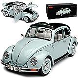 alles-meine.de GmbH Volkwagen Käfer mit Soft Dach 1600 i Ultima Final Edition 2003 Grau Blau 1/18 Schuco Modell Auto mit individiuellem Wunschkennzeichen