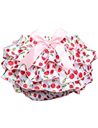 Culotte Bébé Fille Satin Floral PP Pantalon Rose Couvre-couches Dentelle pour 0-3 ans Prop Photographie Mignon Lace