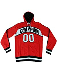 Champion sweat full zip m Homme avec Capuche bball Poly Cotton DFP (Rouge)