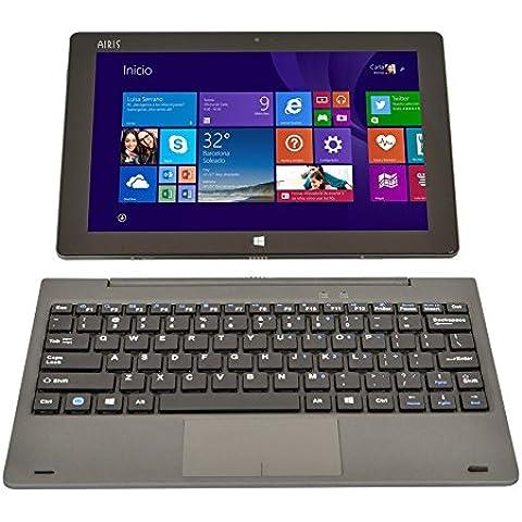 Airis WinPAD 100W 32GB Negro - Tablet (Tableta de tamaño completo, IEEE 802.11n, Windows, Convertible (extraíble), Windows 8.1 with Bing,