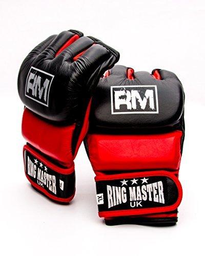 RingMasterUK manoplas de piel auténtica guantes de hombre para artes...