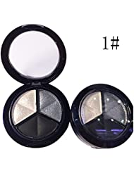 chendongdong 3 Colors Eyeshadow Natural Smoky Cosmetic Eye Shadow Palette Kit Set Make Up
