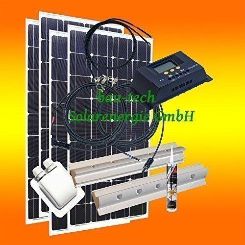 400 Watt Wohnmobil Camping Solaranlage, 12 Volt SET, PV Solarpanel Modul