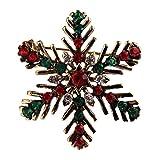 Da. WA mignon Cristal Broche Motif flocon de neige de Noël Broche Clip pour femmes filles