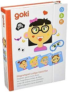 """Goki- Juegos de acción y reflejosJuegos de mesaGOKIJuego de imánes """"Caras Divertidas"""" Chica, (1)"""