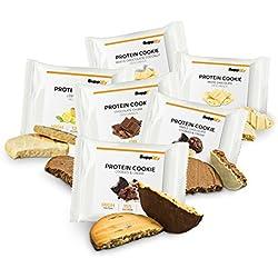 Protein Cookies nur 155 kcal Mix Box wie Proteinriegel mit Whey Eiweiß 6x 40g Riegel