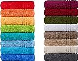 Handtücher Serie Milano BIO-Baumwolle in Luxusqualität, in 7 Größen und 16 Trendfarben - Grösse 6 x Gästetücher, Farbe Mauve 374