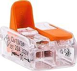 Wago Verbindungsklemme für starr und flexibel max 4mm² 2-polig 10 Stück