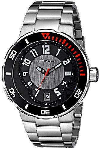Philip Stein Men's 34-BGR-SS Extreme Stainless-Steel Strap Watch