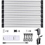 LEDGLE Lot de 6 Lampe de Cabinet 950lm Lampe de Placard Eclairage pour Armoire / Placard / Escalier / Couloir 3000K-Blanc chaud