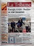 TRIBUNE (LA) [No 3503] du 25/09/2006 - ECONOMIE - ROYAUME-UNI - LE DERNIER CONGRES DE TONY BLAIR - ENTREPRISES - AUTOMOBILE - GENERAL MOTORS RETICENT A UNE ALLIANCE AVEC RENAULT - FERROVIAIRE - LA SNCF PEINE A REDRESSER SON FRET - CONVERGENCE - FRANCE TELECOM PRESENTE UNIK UN TELEPHONE FIXE ET MOBILE - FINANCE - REGULATION - LES ASSUREURS INQUIETS SUR LES FUTURES NORMES DE SOLVABILITE - BANQUE - CREDIT AGRICOLE NEGOCIE LE RACHAT DE CARIPARMA EN ITALIE - MARCHES - PETITES VALEURS - BILAN CONTRAS...