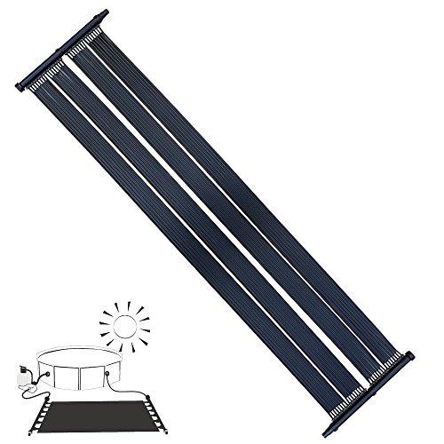 Melko® Solarheizung Poolheizung Solarkollektor Solarpanel Wärmeplane für Pool Schwimmbecken, schwarz, 305 x 80 cm