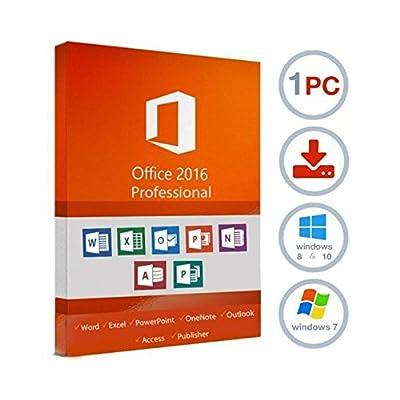 Microsoft office professionnel 2016 plus version complète / 1 pc / 1 clé / livré par e-mail / uniquement pour Windows par Microsoft Software - Logiciels