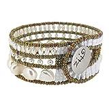 pulsera ZiiO de perlas de agua dulce y Cristal de Murano