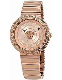 Versace V-Metal Icon Ladies Rose Gold Tone Watch VLC14 0017
