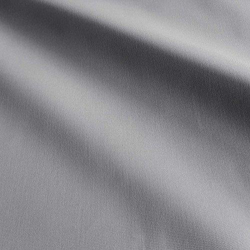 Stoff-Kollektion Stoff Meterware Markisenstoff grau uni hellgrau UV beständig Sichtschutz...