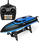 GBlife H100 High Speed Romote Control RC Boats with LCD Screen 2.4GHz 4 Channels 2 Modes (Black Blue)