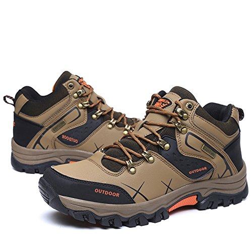 Gomnear Randonnée Chaussures Hommes Été Trekking En marchant Escalade Chaussure Respirant Poids léger De plein air Sportif Formateurs Marron