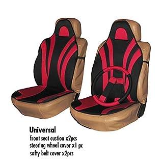Atli 5-Teiliges Set Autositzbezug rot Universal passend für die Meisten Autositzbezüge Autozubehör Bequeme Autobezüge