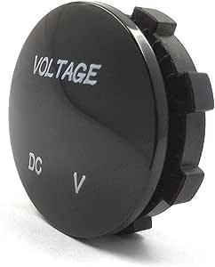 Rekkle /Étanche DC 5-48V Panneau voltm/ètre num/érique Compteur testeur de Tension LED de Remplacement daffichage pour Auto Moto Bateau