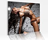Acrylglasbild 50x50cm Sexy Frau nackt Pose Erotik Mauer Akt Acrylbild Bilder Acrylglas Acrylglasbilder 14A4303, Acrylglas Größe3:50cmx50cm