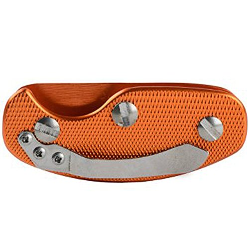 VERY100 Aluminum Key Holder Clip Folder Multi-use EDC Pocket Tool (Orange)