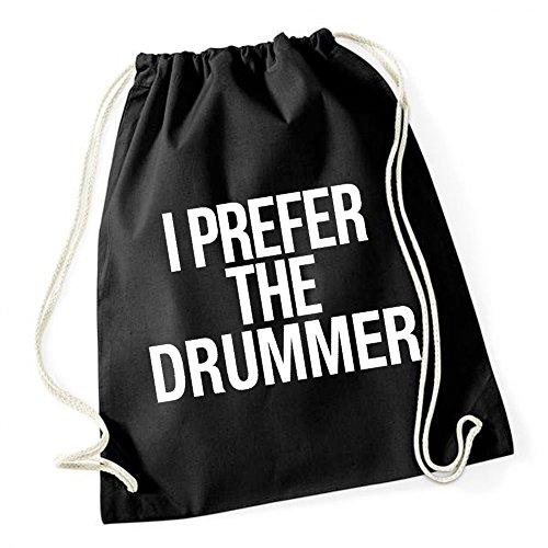 I Prefer The Drummer Sac De Gym Noir Certified Freak