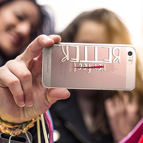 CASEiLIKE Zitat 2402 Ultra Slim Back Hart Plastik Stoßstange Hülle Cover for Apple iPhone SE +Folie Displayschutzfolie +Eingabestift Touchstift (Zufällige Farbe) 2410