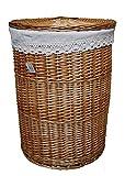 DVier Wäschekorb, Korb, Wasch Weiß, D.46 H.62cm, 1 Einheiten
