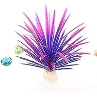 BAOLIJIN Hierba Artificial del árbol del Acuario para la decoración del paisajismo del Tanque de Pescados (púrpura) Fish Tank Ornament