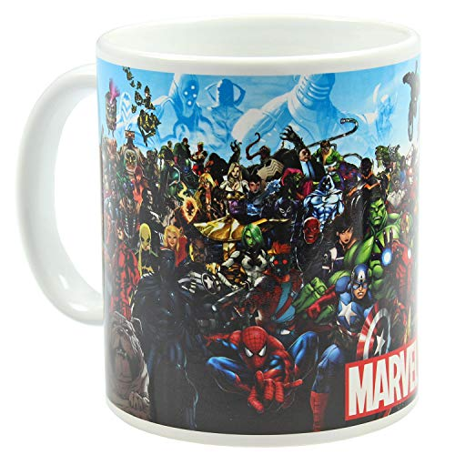 Superhelden Marvel Schurken Und Kostüm - Marvel Superhelden und Bösewicht Keramik-Kaffeebecher, 325 ml Getränketasse