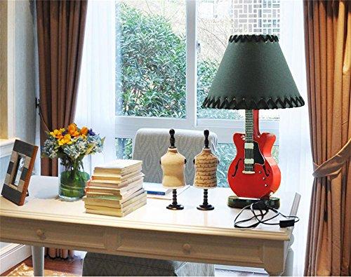 Kesierte chitarra personalità americana illuminazione lampada creativa piccola lampada da tavolo camera da letto comodino ornamenti minimalista ora , a