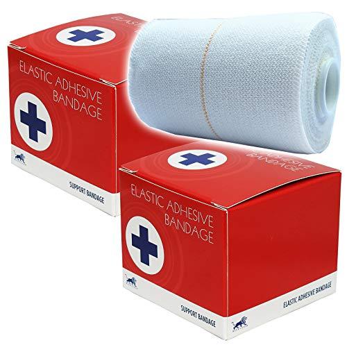 Blue Lion Elastische Bandage, 7,5 cm, einzeln verpackt, für Fußball und Rugby -
