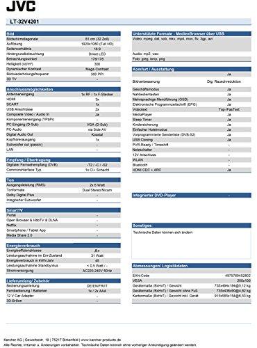 JVC LT-32V4201 81 cm (32 Zoll) Fernseher (Full HD, Triple-Tuner) - 3