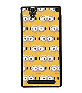 Fuson Designer Back Case Cover for Sony Xperia T2 Ultra :: Sony Xperia T2 Ultra Dual SIM D5322 :: Sony Xperia T2 Ultra XM50h (comic character cartoon lines smile eyes)