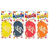 4 x Assorted Jelly Belly 2D Car Air Freshener Set - Cherry, Blueberry, Tangerine, Lemon