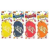 4x varios colores Jelly Belly ambientador para coche Set–Cherry, color azul, naranja, limón