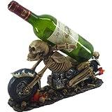 Nemesis Now Death Ride Weinflaschenhalter, 23 cm, elfenbeinfarben