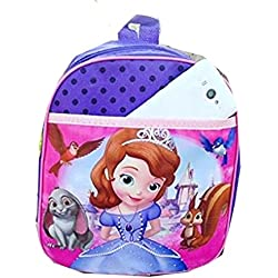 DI GRAZIA Cartoon Princess Barbie Character Children's Backpack, Nursery Kids School Small Bag - Purple