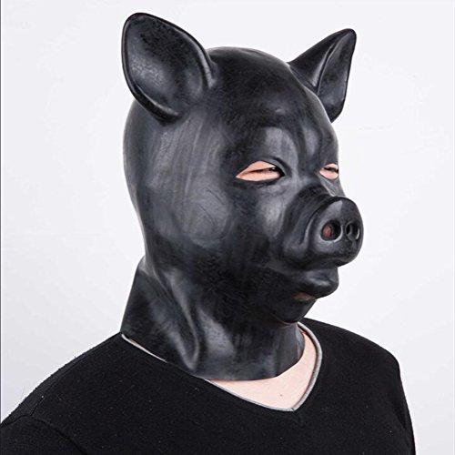 f Maske Schweinekopf Haube Maske Halloween Kostüm Party-One Größe (Schweinekopf Kostüme)