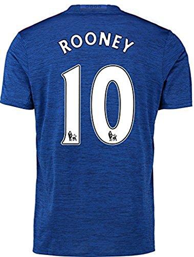 20162017Manchester United 10Wayne Rooney Away Fußball Soccer Jersey in Blau für neue Saison Größe L blau