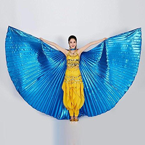 KiyomiQvQ Faschingskostüme Damen 1 STÜCK Ägypten Bauchtanz Kostüm Bauchtanz Zubehör Keine Stöcke Flügel kostüm fee Flügel kinder vogel Karneval Kostüm Damen Flügel Engel erwachsene