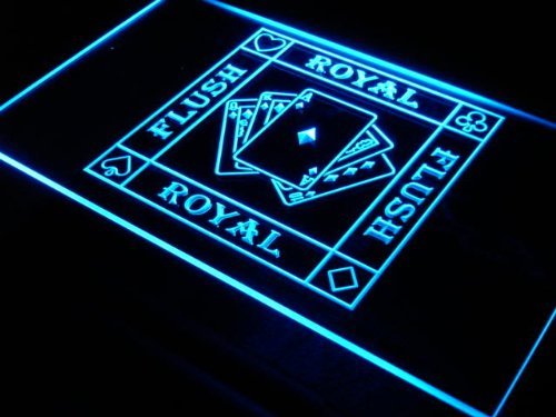 Enseigne Lumineuse i938-b Royal Flush Poker Casino Ace Bar Neon Light Sign